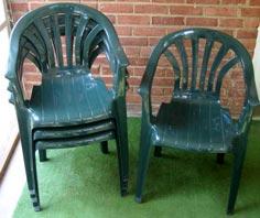 Nice Green Patio Chairs (set Of 4) ...